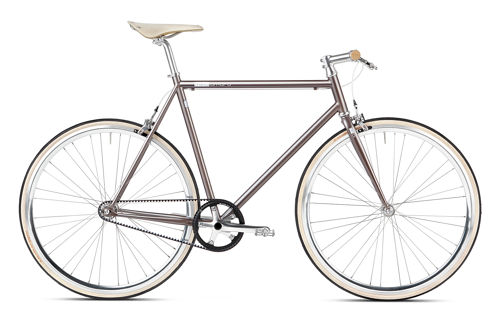 Single Speed Bike Gates Carbon Drive custom grey mika amaro