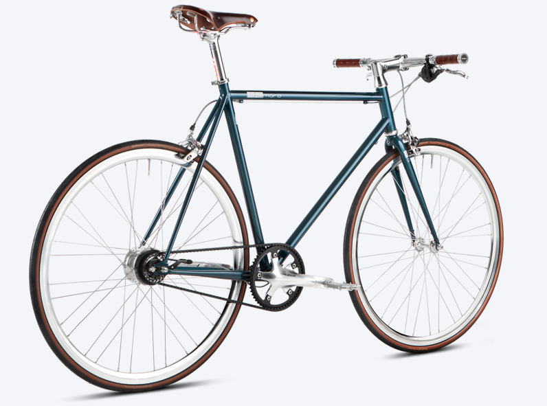 Urban Bike Gates Riemenantrieb Brooks blau mikamaro