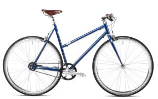 Urban Bike Women blau Gates Riemenantrieb Brooks