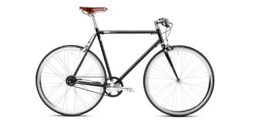Urban Bike black Gates Riemenantrieb Brooks