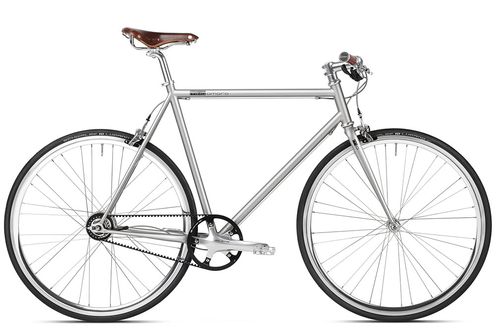 Urban Bikes Gates Carbon Drive, Fahrrad mit Riemenantrieb, Brooks, Shimano