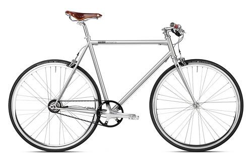 Urban Bike 8 Gang Shimano grau Gates Carbon Drive, Fahrrad mit Riemenantrieb