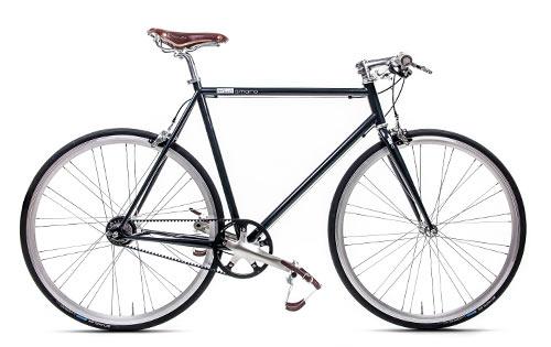 Urban Bike schwarz Gates Carbon Drive, Brooks, Fahrrad mit Riemenantrieb