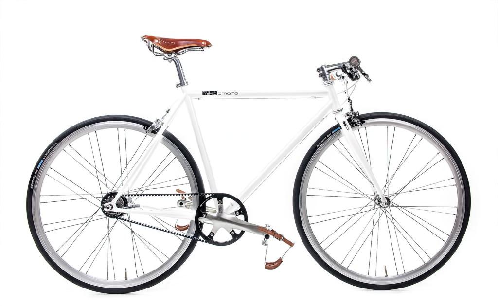 Urban Bike indy white Gates Carbon Drive belt drive