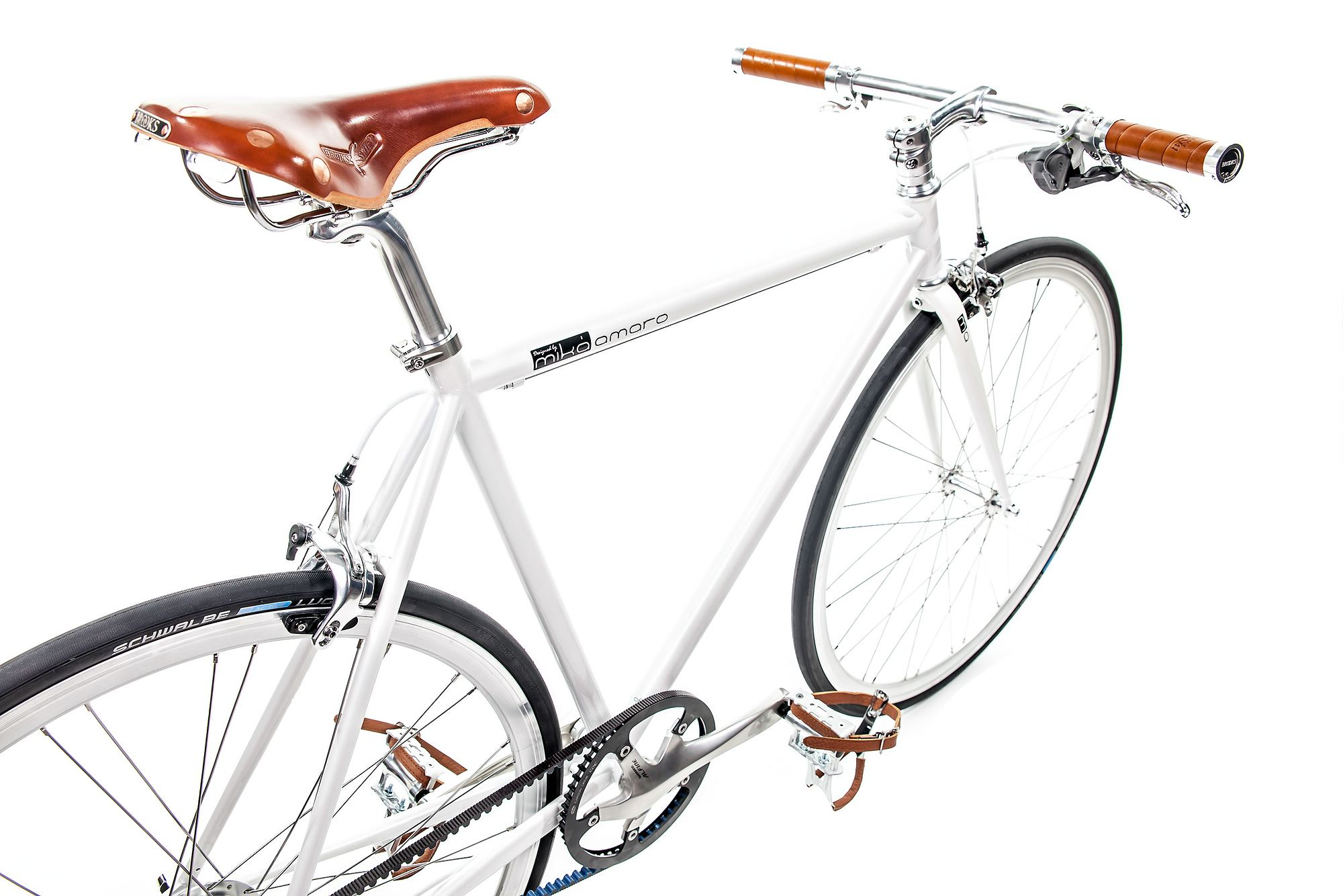 Urban Bike indy white Brooks, belt drive