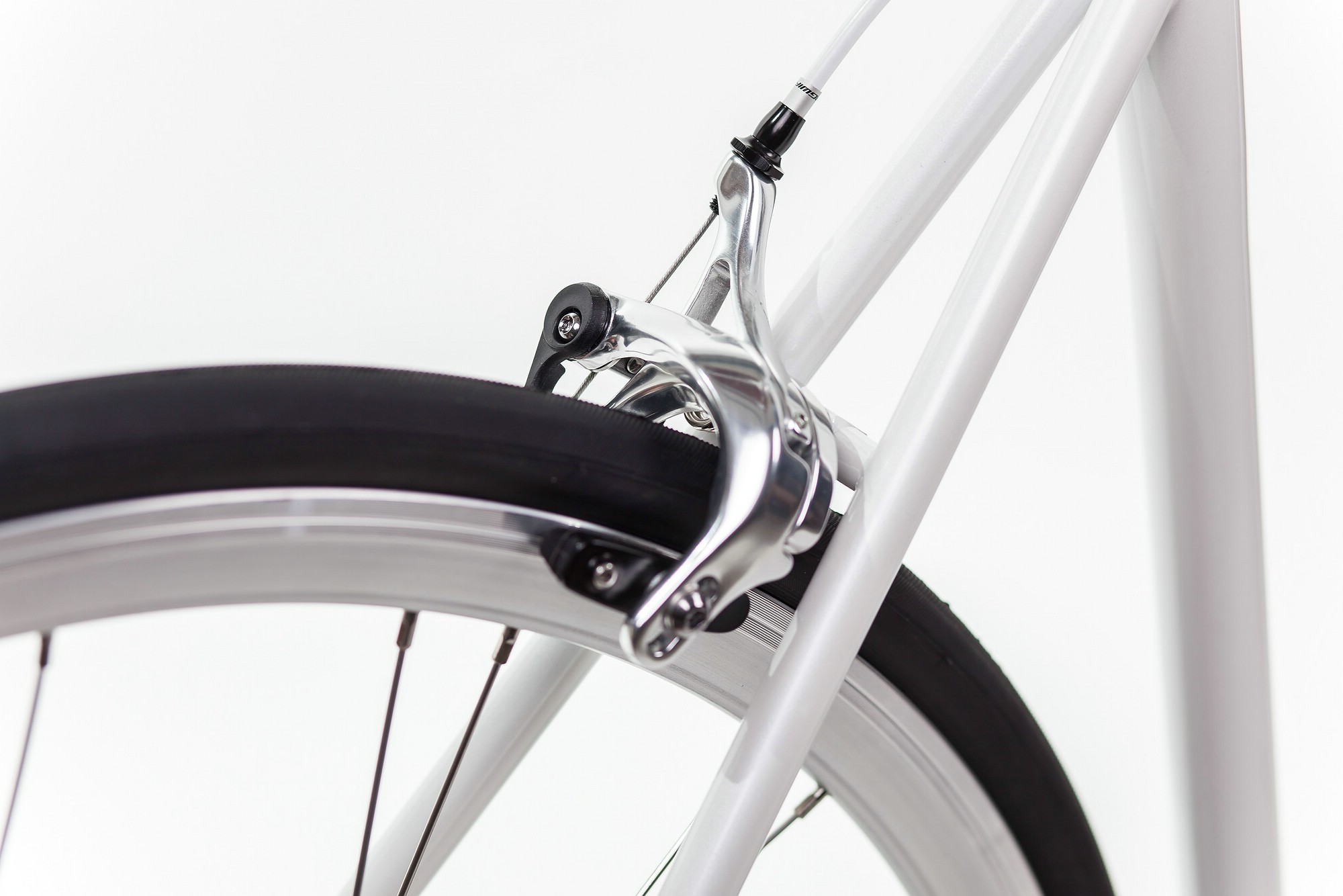 Urban Bike indy white brakes