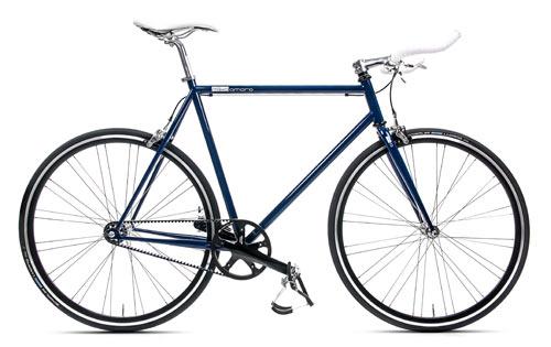 Single Speed Bike blau Gates Carbon Drive, Fahrrad mit Riemenantrieb