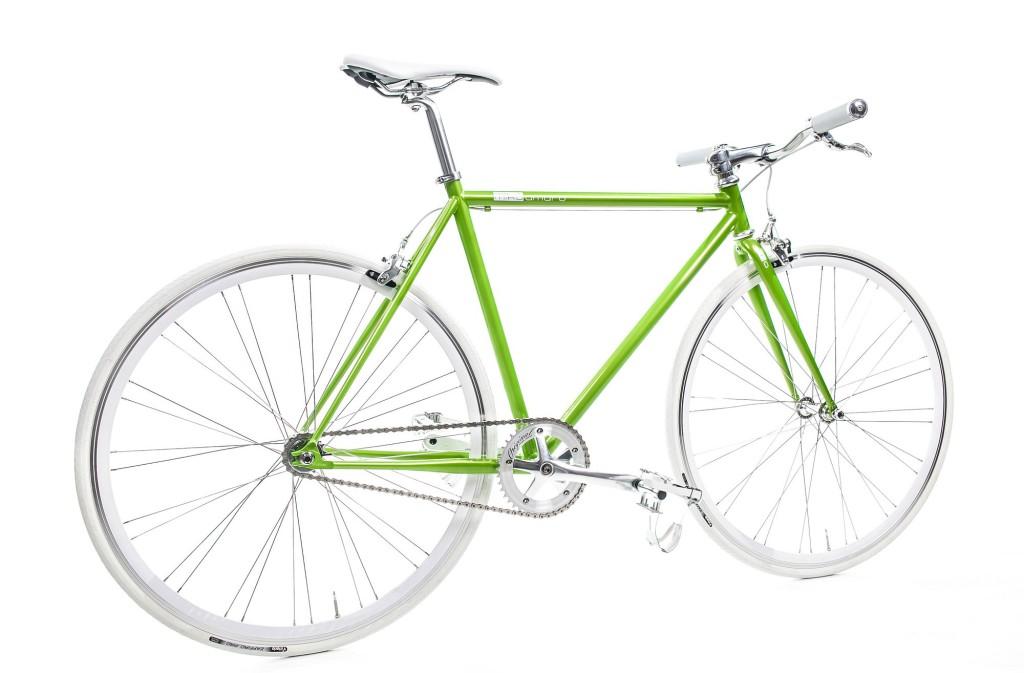 Single Speed Bike mellow green, grün