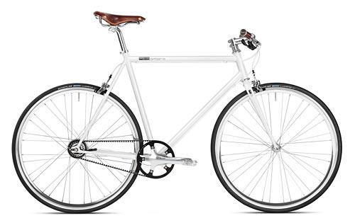 Urban Bike 8 Gang Shimano weiß Gates Carbon Drive, Fahrrad mit Riemenantrieb