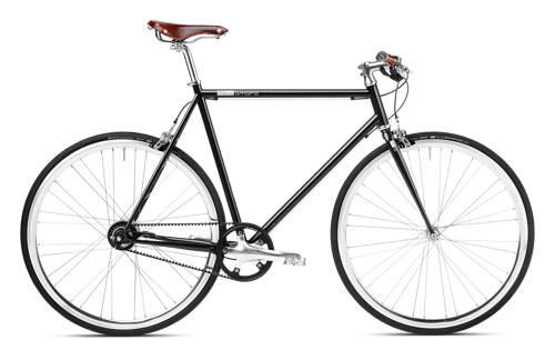 Urban Bike black, Brooks, belt drive, Gates Carbon Drive