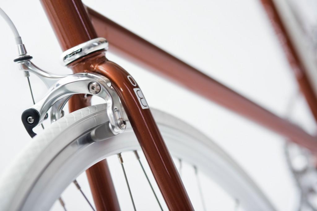 Single Speed Bike metallic brown, brake