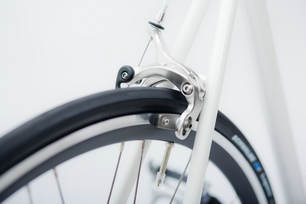 Single Speed Bike indy white, brakes