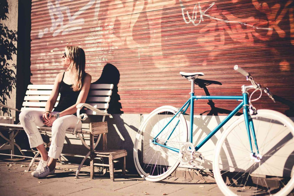 Single Speed Bike cruise turquoise, Cologne