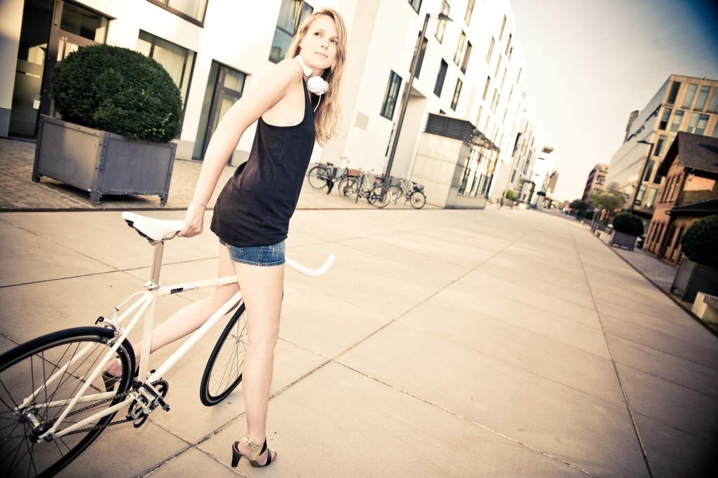 Single Speed Bike indy white, city