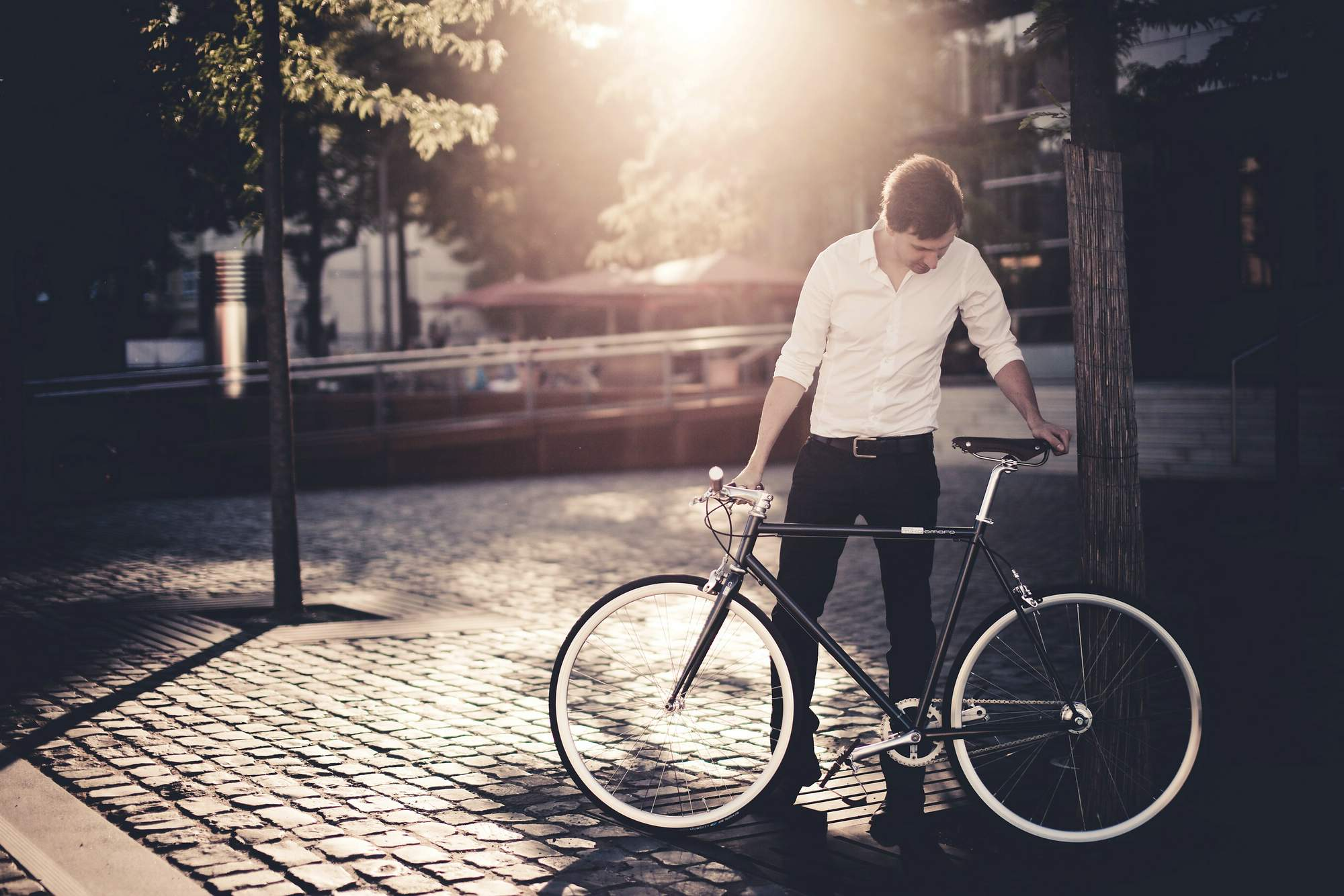 Urban Bike cushy black 3 Speed, summer time