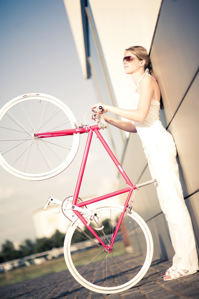Single Speed Bike dressy pink, city