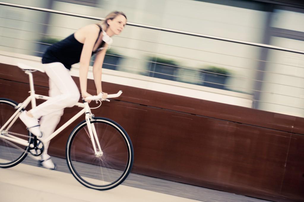 Single Speed Bike indy white, city race