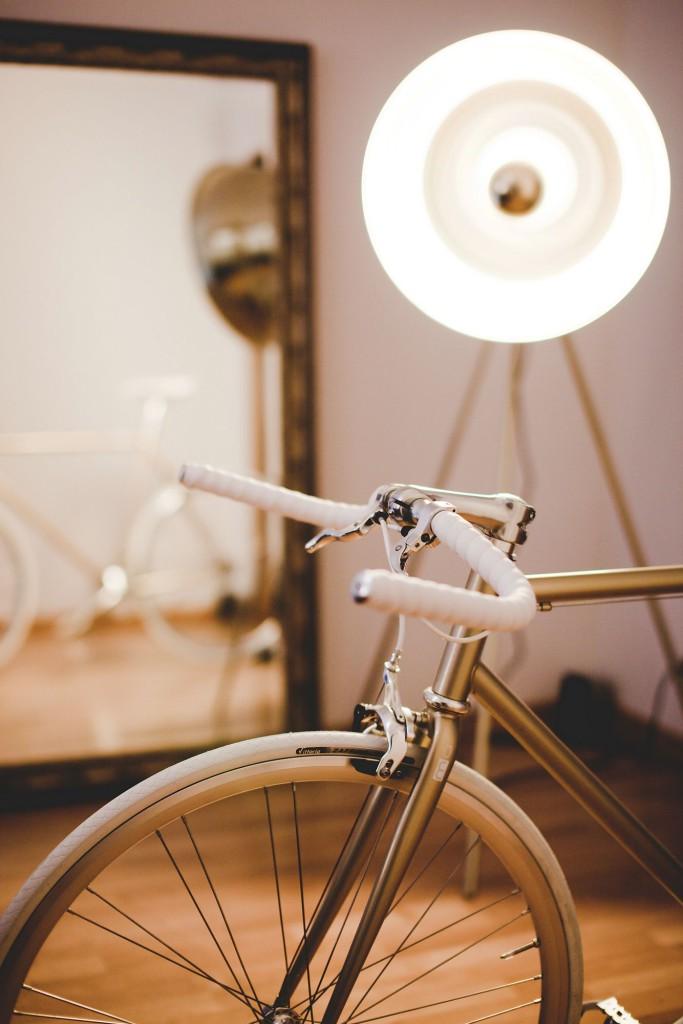 Single Speed Bike one gold