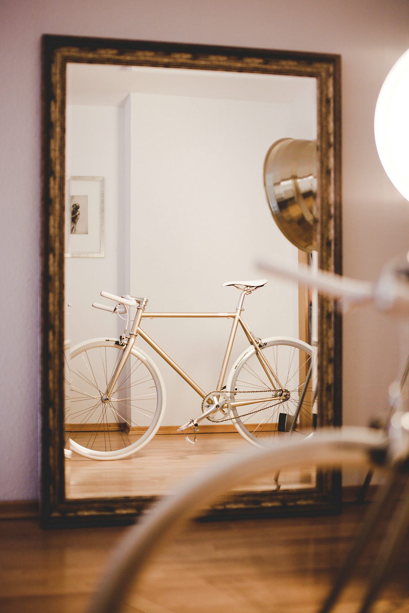 one gold limited Single Speed Bike