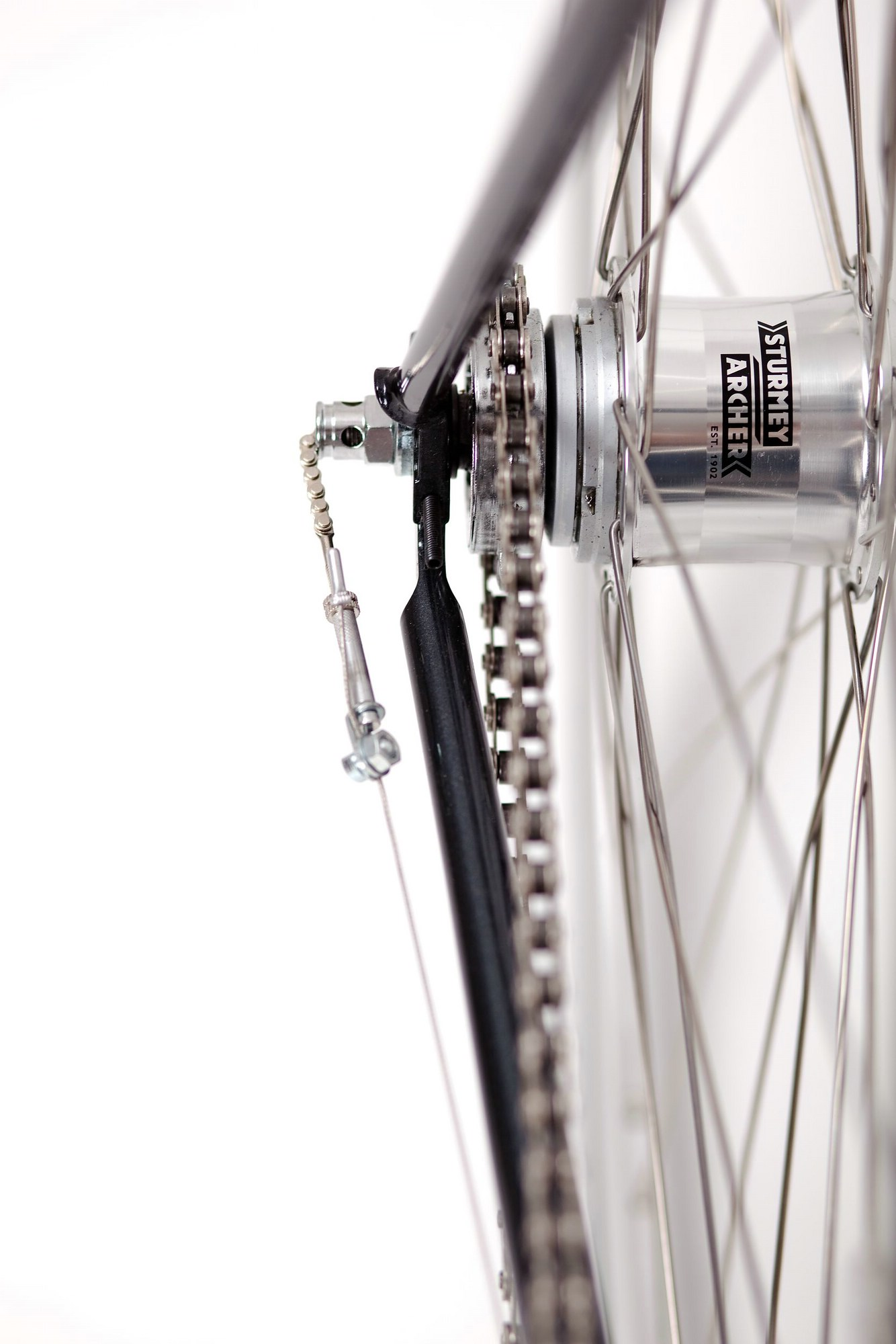 Urban Bike cushy black 3 Gang, Sturmey Archer