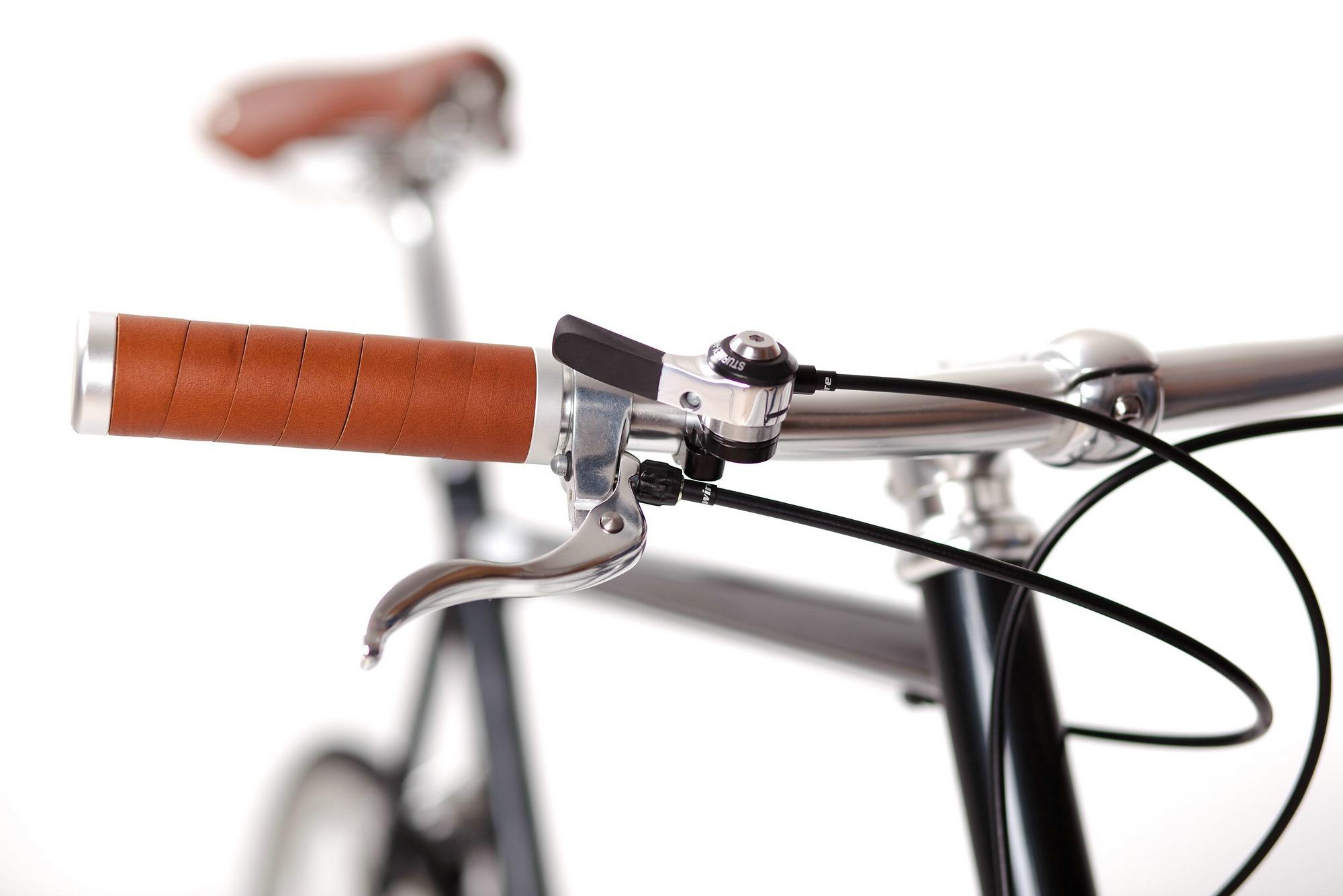 Urban Bike cushy black 3 Gang, Leder