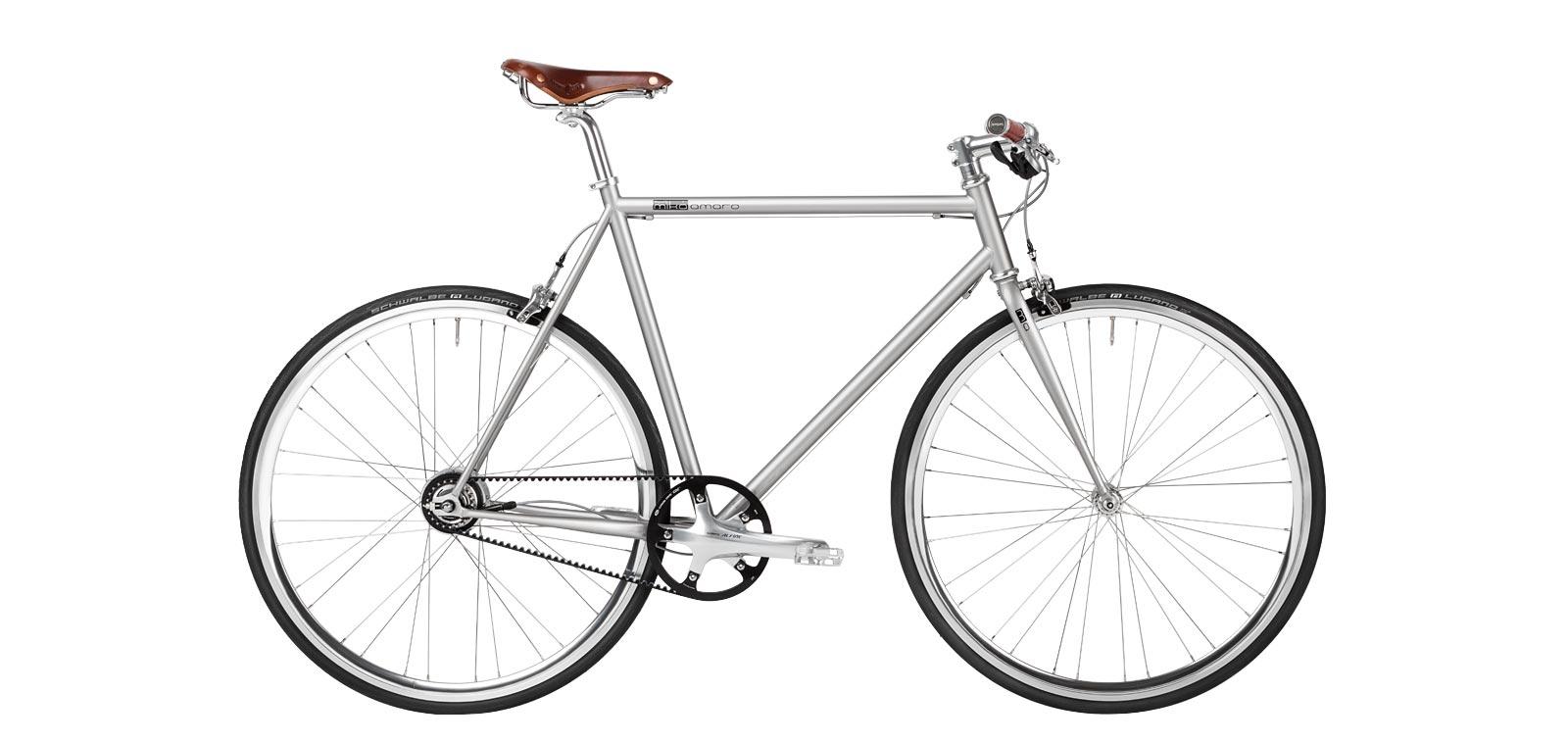 Urban Bike agravic grey, Brooks, Shimano Alfine, Gates Carbon Drive