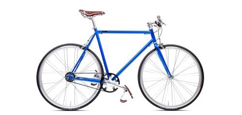 Urban Bike blue Gates Carbon Drive Shimano