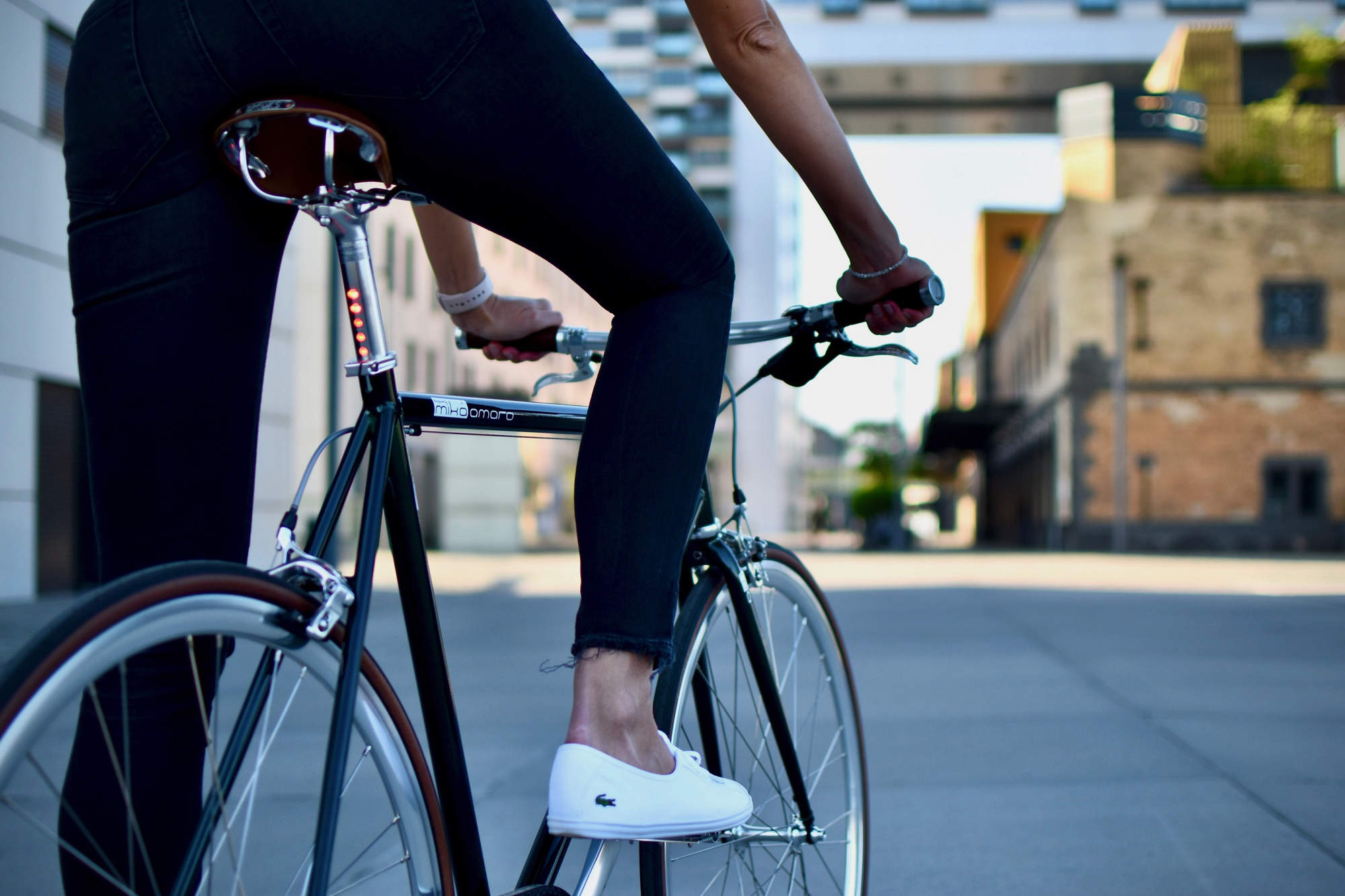 urban bike emerald green lightskin brooks