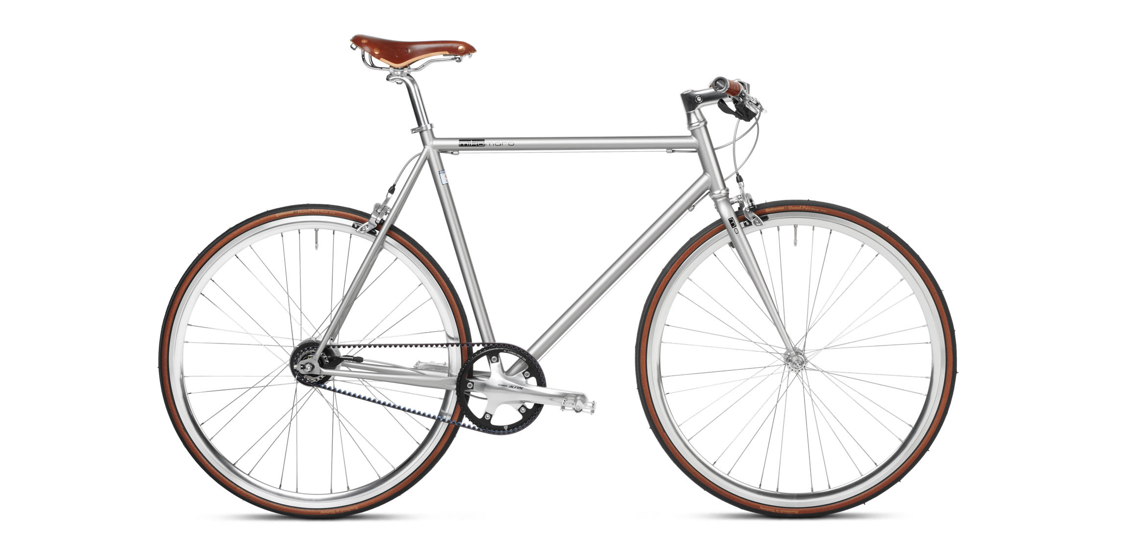 urban bike sapphire grey mikamaro gates belt drive