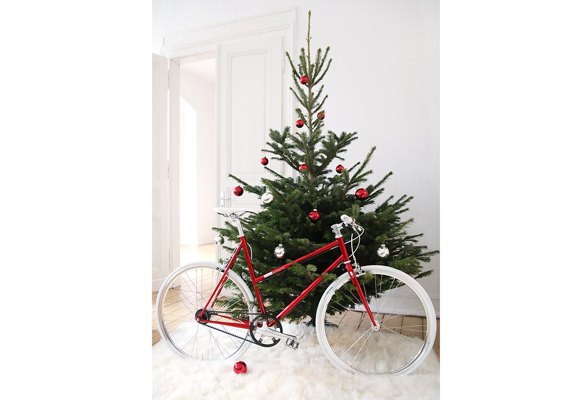 Woman Urban Bike Christmas