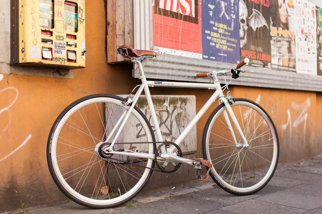 Urban Bike indy white 8 Speed, Gates Carbon Drive