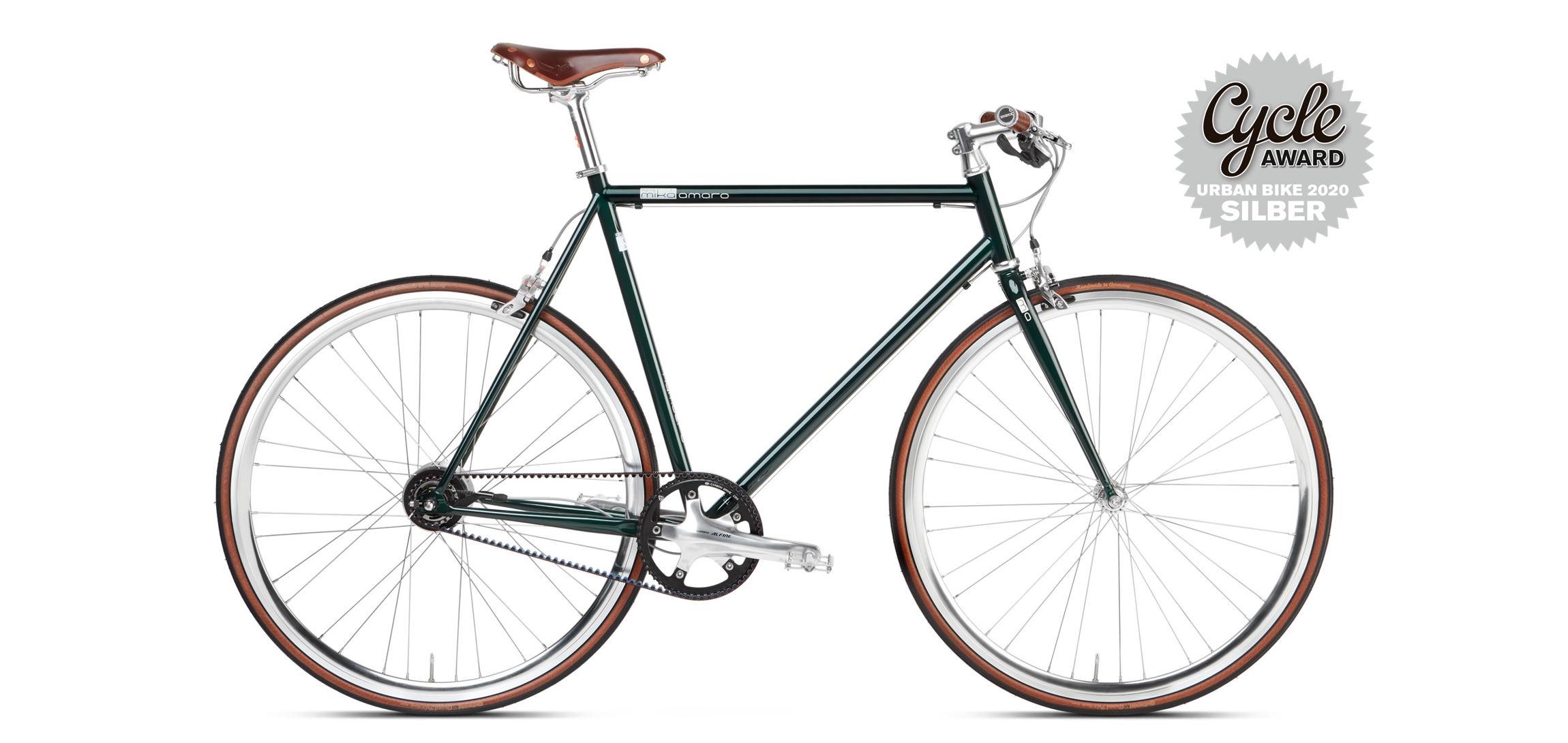 Urban Bike British Racing Green Gates Riemen
