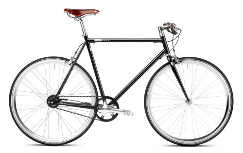 Urban Bike black Gates Carbon Drive Brooks