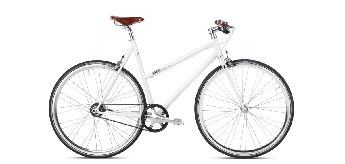 Urban Bike white with Gates Carbon Drive