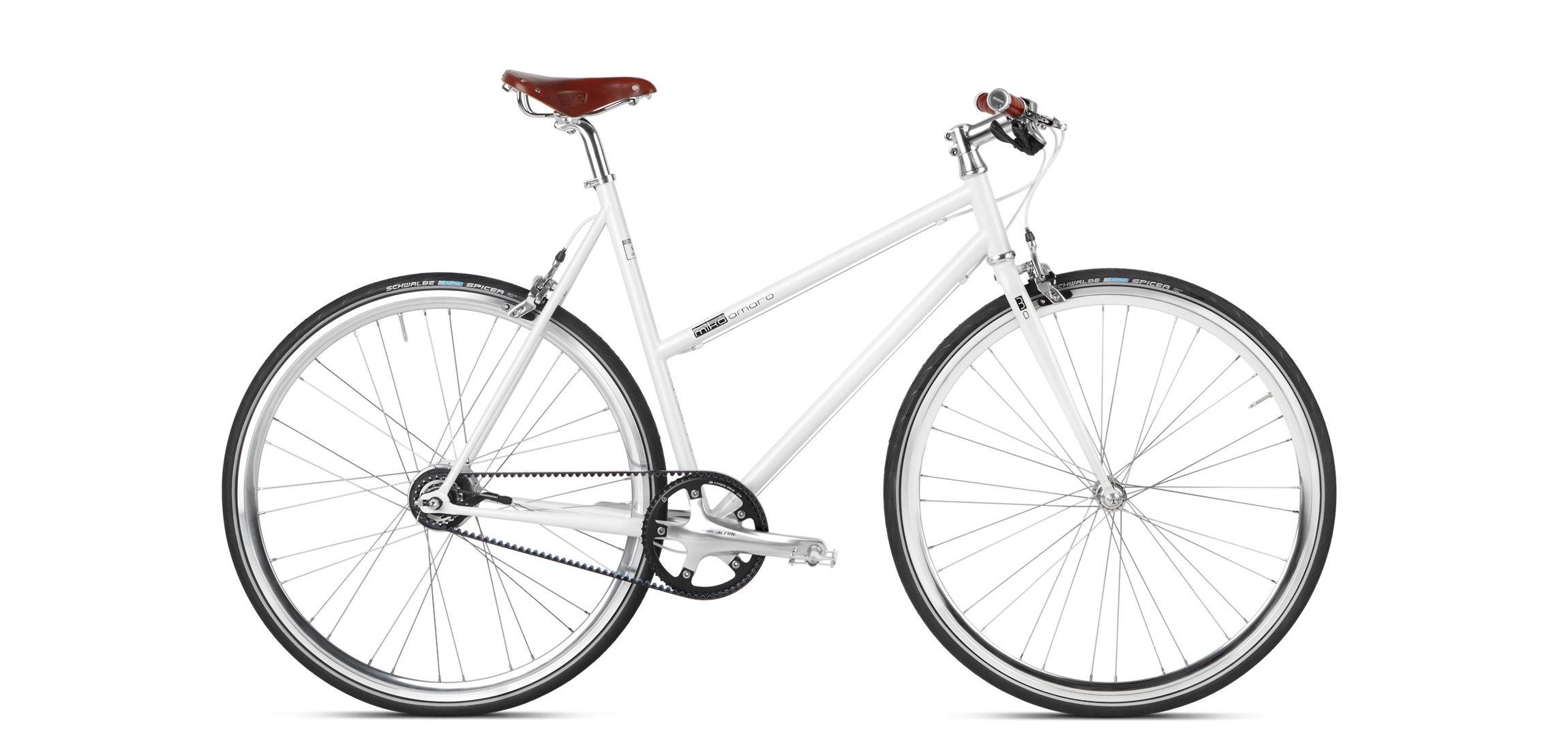 Urban Bike Frauen mit Riemen Antrieb Gates Brooks